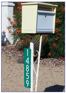 Vertical Mailbox Signs